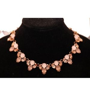 Statement Piece Necklace in Pale Pinks